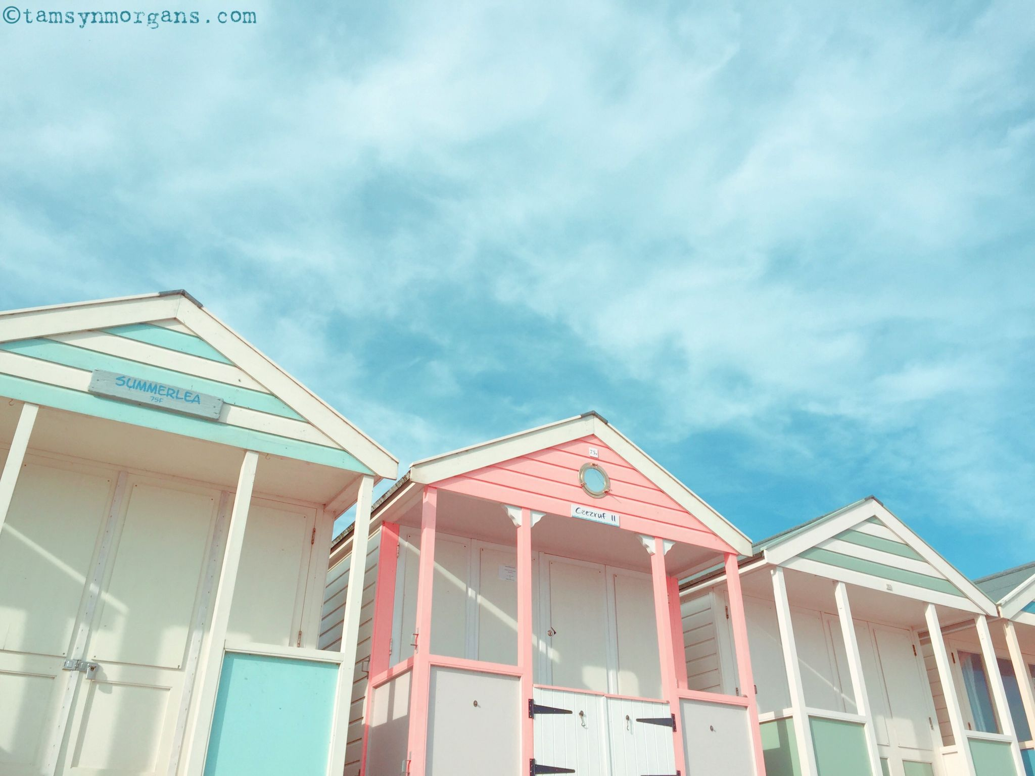 pastel beach huts and houses in southwold the villa on