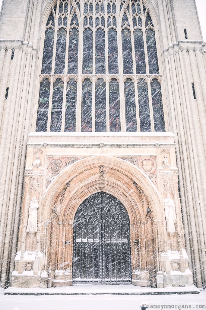 Norwich Cathedral looking like Narnia in the snow...