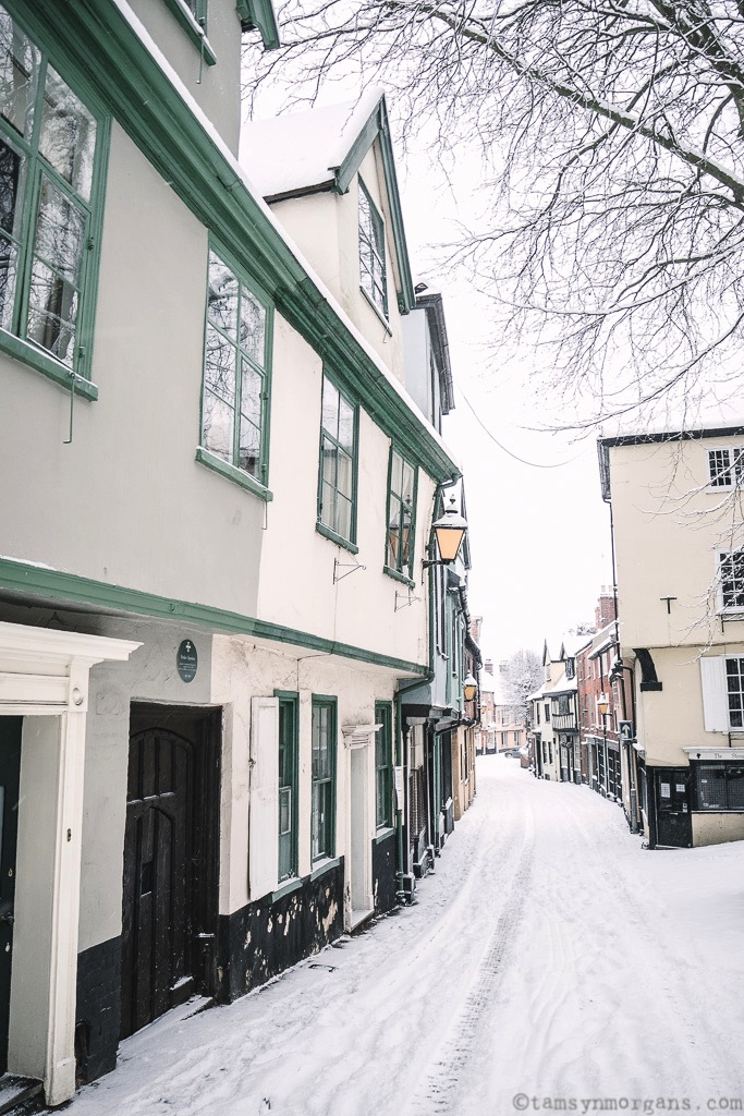 Elm Hill, Norwich looking magical in the snow...